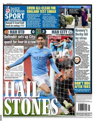 Thursday's Express back page