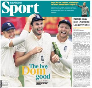 Saturday's Times back page