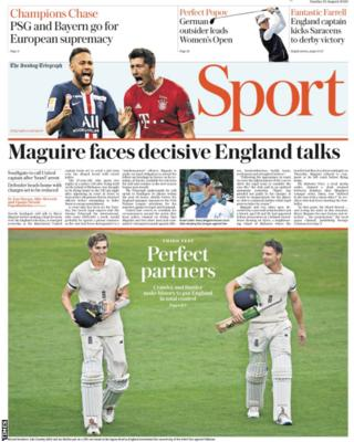 Sunday's Times back page