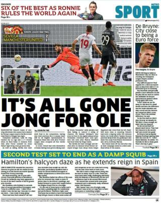 sport Metro back page
