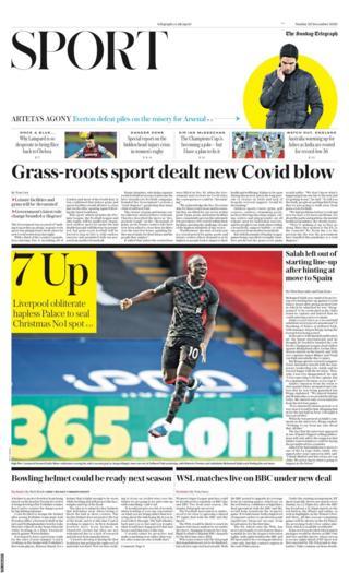 Sunday's Daily Telegraph