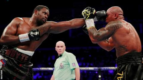 Whyte dictated distance with the jab for spells throughout the bout