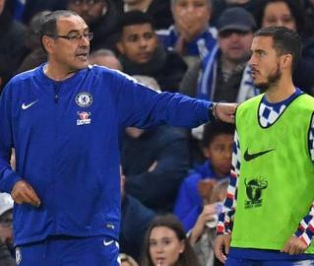 Maurizio Sarri And Eden Hazard
