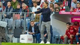 Niko Kovac on the touchline