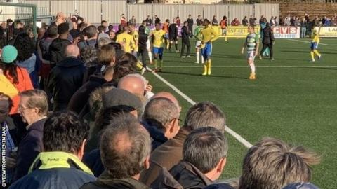 sport Haringey players walked off the pitch