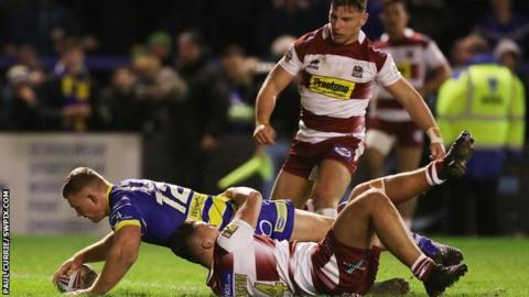 Wigan old boy Jack Hughes scored the last of Warrington's four tries in the 25-12 Super League win against the Warriors in March