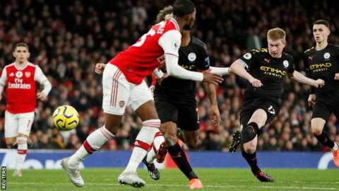 Arsenal 0-3 Manchester City: Kevin de Bruyne scores twice as City ...