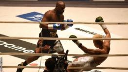 Floyd Mayweather beat Japanese kickboxer Tenshin Nasukawa in an exhibition boxing match in December 2018
