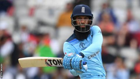 Moeen Ali in action with the bat