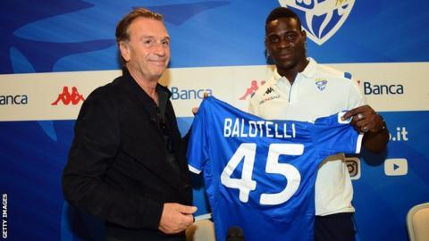 Massimo Cellino and Mario Balotelli