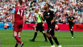 Raheem Sterling celebrates scoring