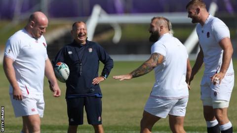Eddie Jones during England training