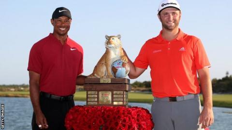 Tiger Woods and Jon Rahm