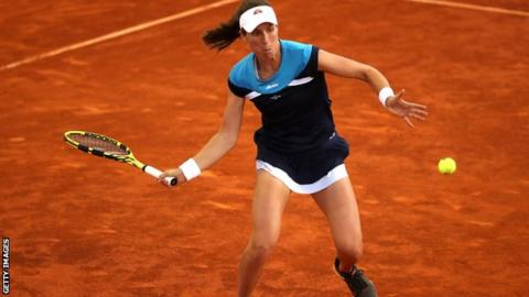 Johanna Konta en route to victory in Madrid