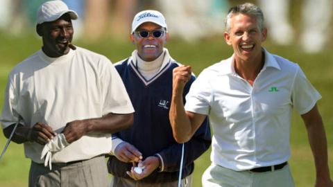 sport Michael Jordan (left), Samuel L Jackson (centre) and Gary Lineker
