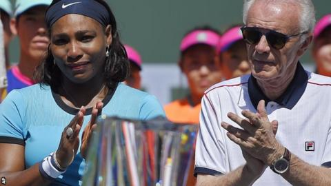 Serena Williams and Raymond Moore
