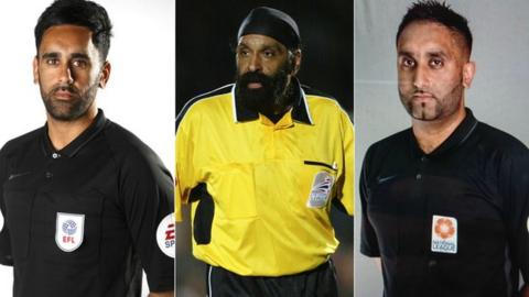 sport Bhupinder Gill (left), Jarnail Singh (centre) and Sunny Gill