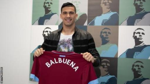 Image result for pic of balbuena joins west ham