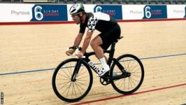 Britain's Mark Cavendish rides around the Lee Valley velodrome