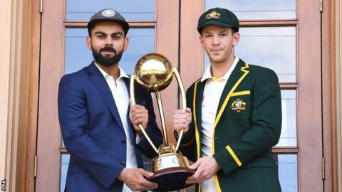 India captain Virat Kohli and Australia's Tim Paine