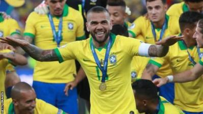 Alves was voted Player of the Tournament at the Copa America this summer