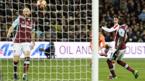 Bojan Krkic scores for Stoke against West Ham