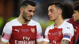 Sead Kolasinac and Mesut Ozil