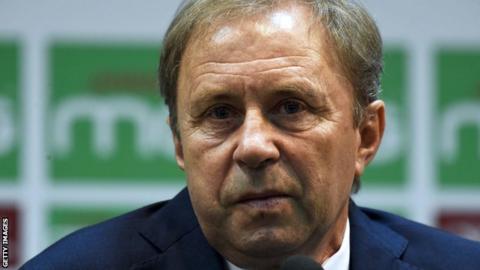 Serbian coach Milovan Rajevac