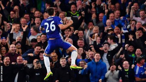 Chelsea's John Terry scores on his Stamford Bridge farewell