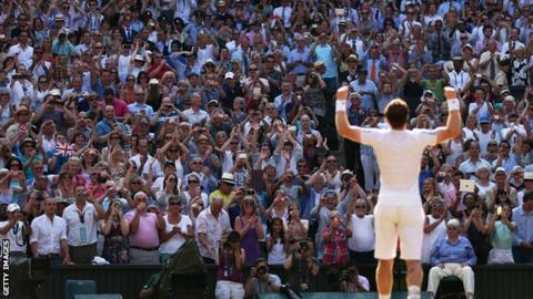 sport Andy Murray celebrates