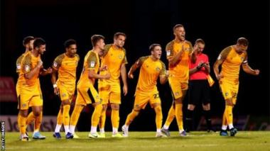 League Two side Newport beat Gillingham on penalties in the first round and will play West Ham in round two