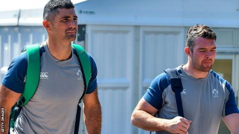 Peter O'Mahony and Rob Kearney return to the Ireland team to face the All Blacks in Saturday's World Cup quarter-final