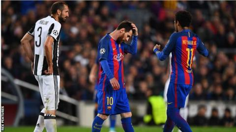 Barcelona have failed to reach the Champions League semi-finals for the second successive season