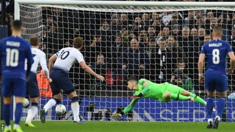 Harry Kane scores for Tottenham