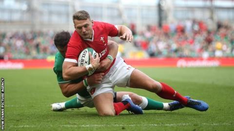 sport Dan Biggar in action for Wales