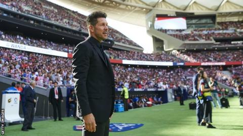 Diego Simeone at the Wanda Metropolitano