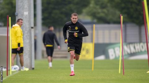 Borussia Dortmund's players are training ahead of a return to action on Saturday.