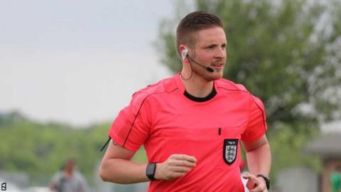 sport Ryan Atkin has refereed four National League games this season, most recently Dagenham & Redbridge's win against Aldershot on 16 November