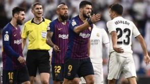 Barcelona and Real Madrid players