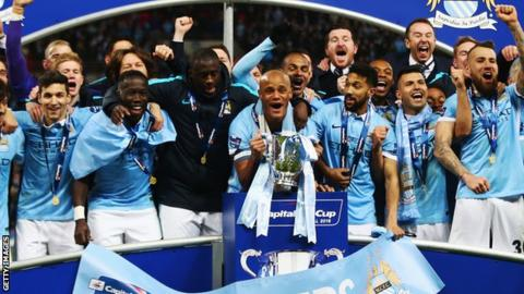 Manchester City win the League Cup