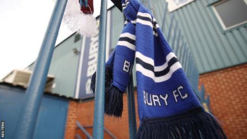 Bury FC scarf