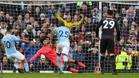 Image result for man city 3 arsenal 1