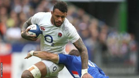 sport Courtney Lawes in action for England against France
