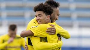 Pierre-Emerick Aubameyang and Jadon Sancho