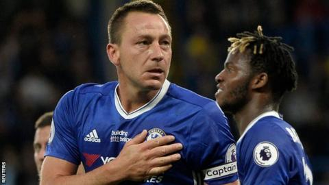Chelsea skipper John Terry celebrates scoring the opener