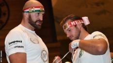 Tyson Fury and his trainer Ben Davison