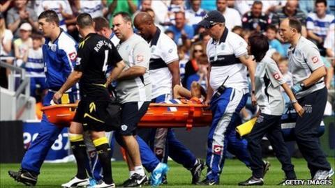 Kieron Dyer suffers injury setback on QPR debut - BBC Sport