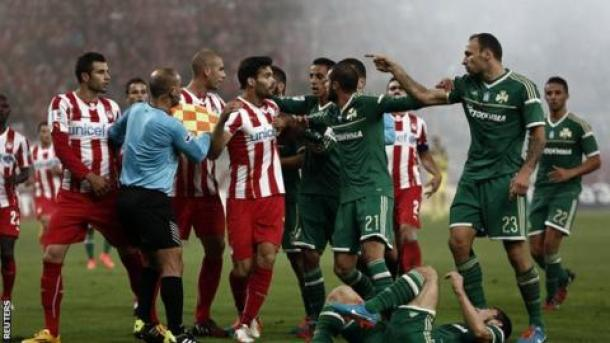 Image result for Olympiakos/Panathinaikos derby