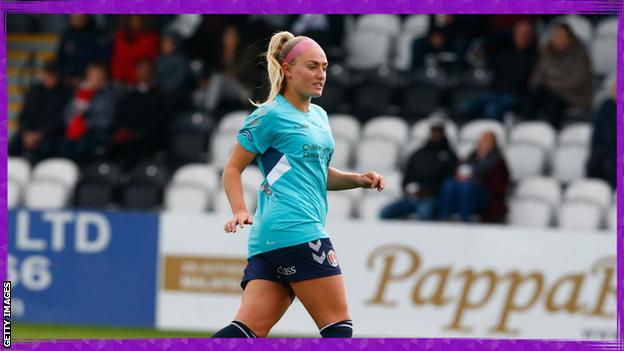 sport Rachel Newborough playing for Charlton