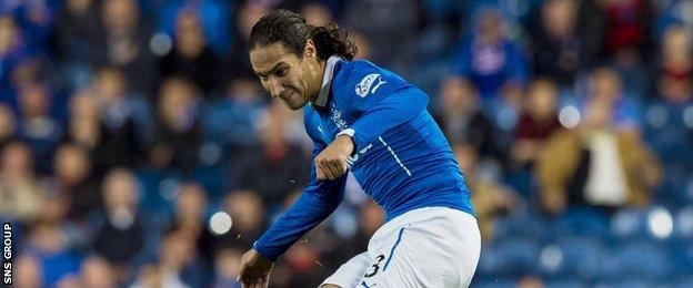 Bilel Mohsni in action for Rangers